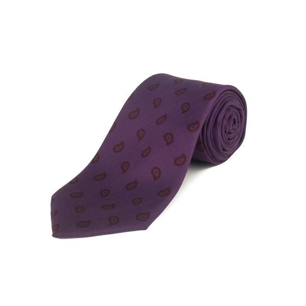 28cf86a0 Ermenegildo Zegna Men's Silk Paisley Pattern Tie Purple - No Size