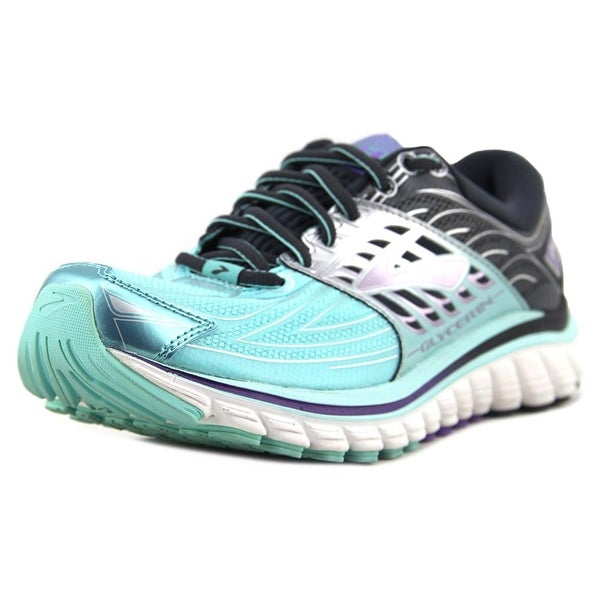31f480af942323 Shop Brooks Glycerin 14 Women Round Toe Leather Blue Running Shoe ...