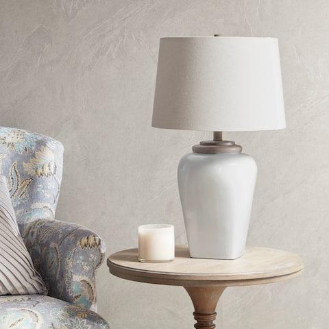 Martha Stewart Jemma White Table Lamp