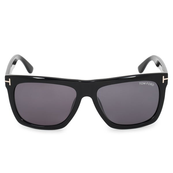 d30a707946 Shop Tom Ford Morgan Rectangle Sunglasses FT0513 01A 57 - Free ...