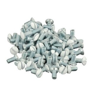 "Leviton C22-88400-PRT Standard Wall Plate Replacement Screws, 5/16"", White"