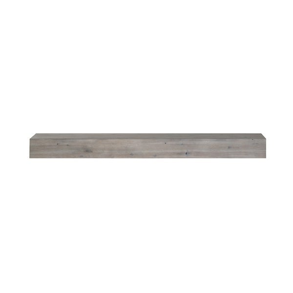 """48"""" Gray Shelf or Mantel Shelf with Natural Distressing - N/A"""