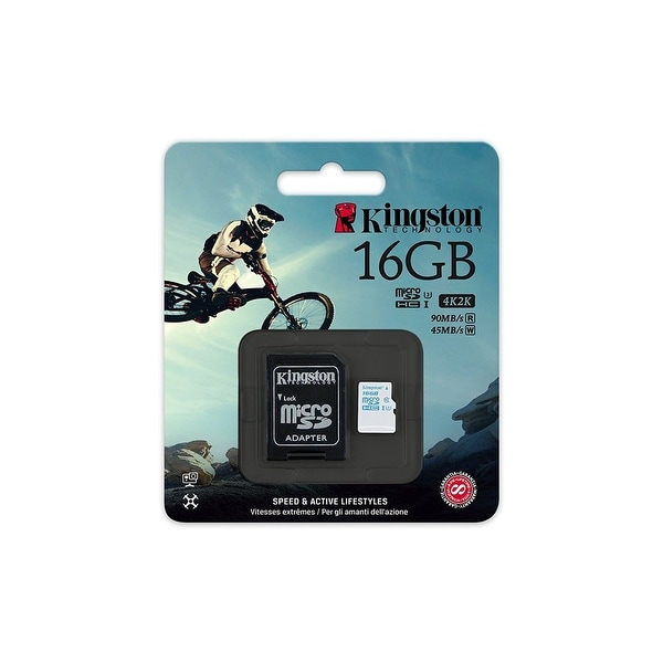 Kingston Digital MicroSDHC UHS-I U3 Action Card, 90R/45W & SD Adapter - Parent