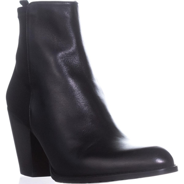 Stuart Weitzman Nuotherhalf Block-Heel Booties, Black - 10 us