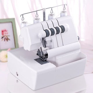 Gymax Overlock Serger Sewing Machine 2 Needle 4 Thread Capability w Differential Feed