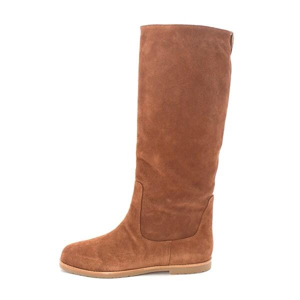 MICHAEL Michael Kors Womens Kenton Flat Boot Leather Closed Toe Knee High Fas... - 11