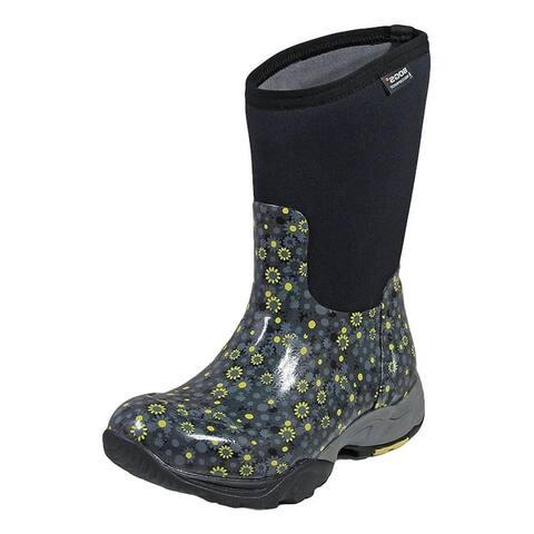 Bogs Outdoor Boots Womens Daisy Multi Flower Pull On Waterproof