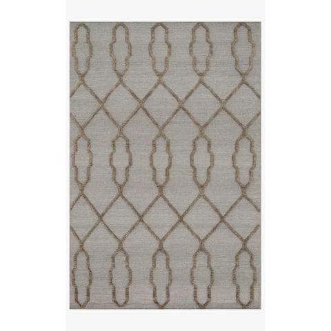 Alexander Home Lennon Moroccan Hand-Woven 100% Wool Slate Rug