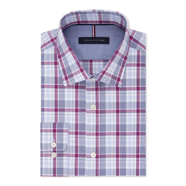314206ba Shop Tommy Hilfiger Mens Dress Shirt Plaid Button-Down - 17 34/35 - Free  Shipping On Orders Over $45 - Overstock - 25659947