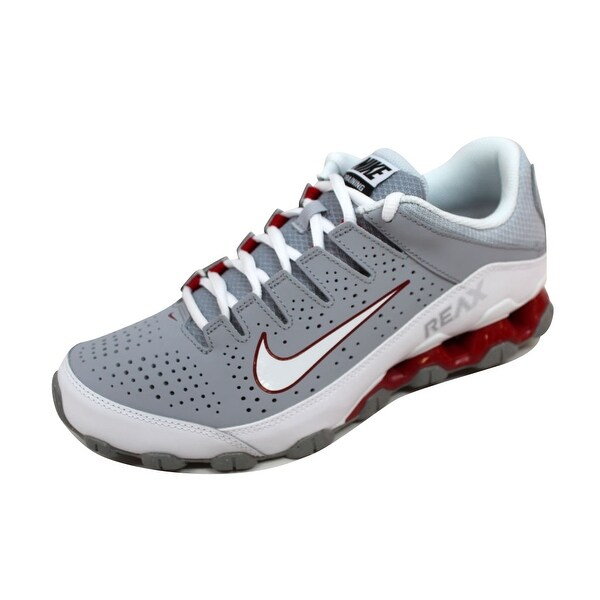 Shop Nike Men's Reax 8 TR Wolf GreyWhite Gym Red 616272 012