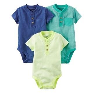 Carter's Baby Boys' 3-Pack Neon Original Bodysuits, 3 Months