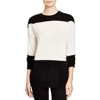 Theory Womens Amilna Sweater Cashmere Colorblock