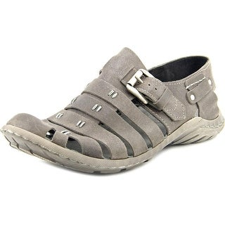 Josef Seibel Logan 04 Men Round Toe Leather Gray Fisherman Sandal