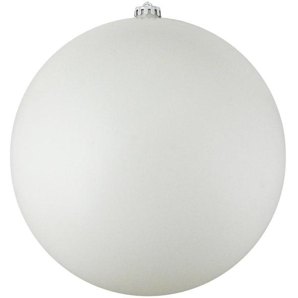 """Winter White Shatterproof Matte Christmas Ball Ornament 8"""" (200mm)"""