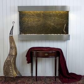 BluWorld Classic Quarry Horizontal Indoor Wall Fountain - Rainforest Green Ma...