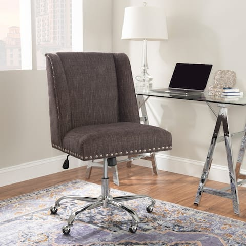 Lipcani Grey Upholstered Office Chair