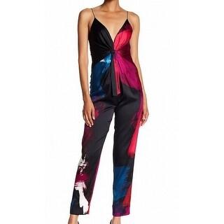 Diane von Furstenberg NEW Pink Womens Size 2 Rylen Look Silk Jumpsuit