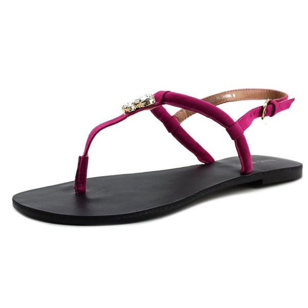 Nine West Skooter Open Toe Canvas Thong Sandal