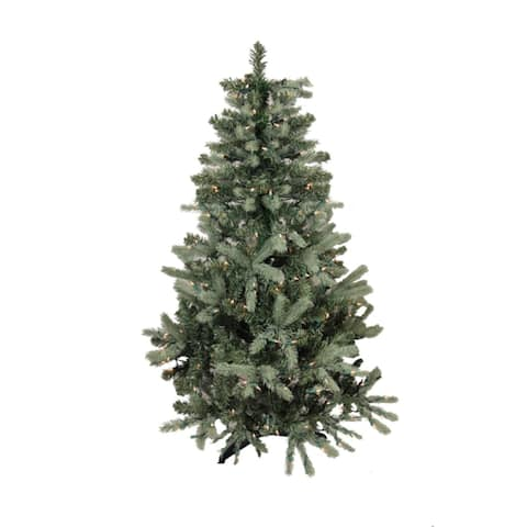9' Pre-Lit Blue Spruce Full Artificial Christmas Tree - Clear Lights - 8-to-10-feet