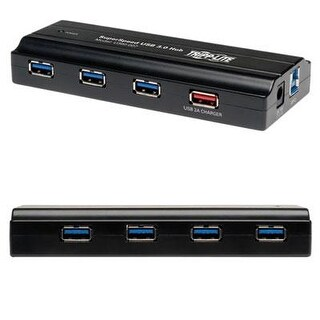 Tripp Lite 7-Port Usb-A 3.0 Superspeed Hub With 2A Usb Charging Port For Fast Charging (U360-007)
