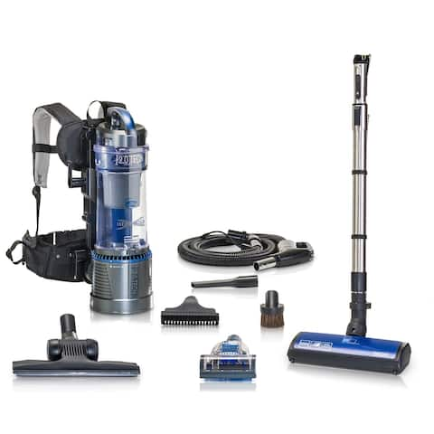 """Prolux Lightweight Bagless 2.0 Backpack Vacuum w/ Power Nozzle and 5yr Warranty - 11""""x14""""x22"""""""