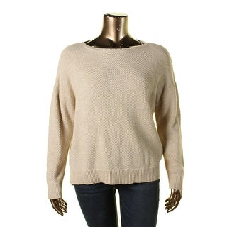 LRL Lauren Jeans Co. Womens Cotton Ribbed Trim Pullover Sweater - XL