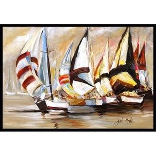 Carolines Treasures JMK1136JMAT Boat Binge Sailboats Indoor & Outdoor Mat 24 x 36 in.