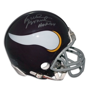 "Bud Grant Minnesota Vikings Autographed Mini Helmet Inscribed ""HOF 94"""