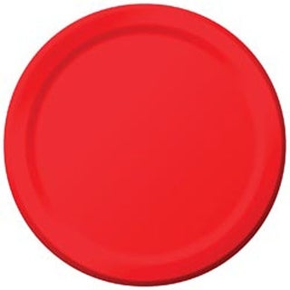 """Classic Red - Luncheon Plates 7"""" 24/Pkg"""
