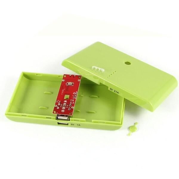 Unique Bargains 14cm Long Green USB Power LED Light Bank 18650 Battery Charger DIY Box