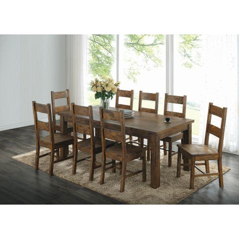 Carbon Loft Yoona Transitional Warm Brown 5-piece Counter-height Dining Set