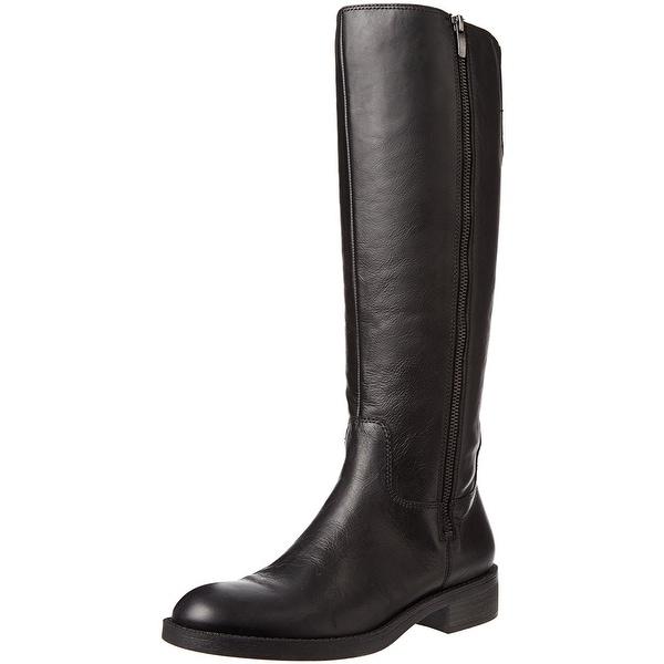 Enzo Angiolini Womens Shobi Leather Almond Toe Knee High Fashion Boots