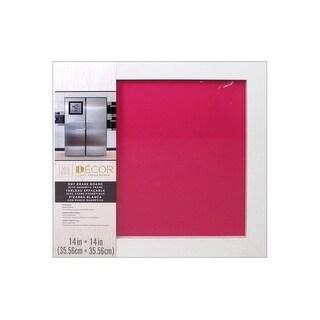"Darice Dry Erase Board 14x14"" White/Hot Pink"