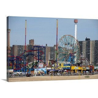 """Coney Island, Brooklyn, NYC"" Canvas Wall Art"