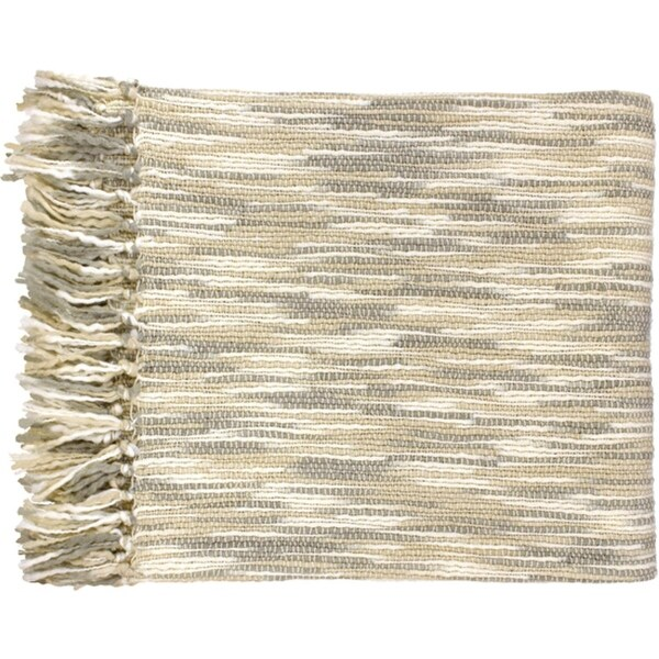 "55"" x 78"" Misty Treasure Gray and Cream Throw Blanket"