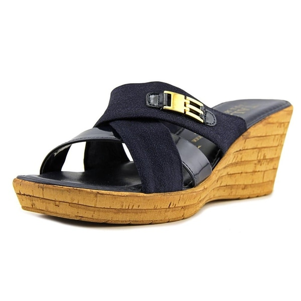 Italian Shoe Makers Sunbeam Navy Sandals