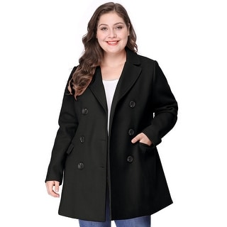 Link to Women's Plus Size Notched Lapel Double Breasted Coat Similar Items in Women's Outerwear