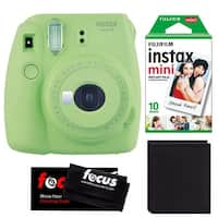 Fujifilm Instax Mini 9 (Lime Green) w/ Instax Film & Photo Wallet