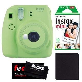 Fujifilm Instax Mini 9 (Lime Green) w/ Instax Film & Photo Wallet