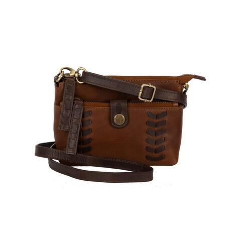 StS Ranchwear Western Handbag Saddle Tramp Crossbody Brown - 6.5 x 4.5 x 2.5