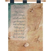 "Linda Grayson ""A Mother's Love"" Poem Wall Art Hanging Tapestry 26"" x 36"" - Blue"