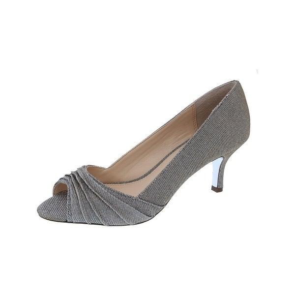 Nina Womens Carolyn Evening Heels Metallic Open Toe