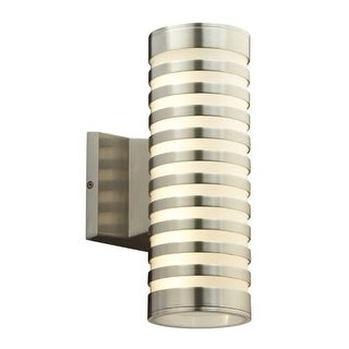 "PLC Lighting 4067 Decker 2 Light 4-3/4"" Wide Integrated LED Outdoor Wall Sconce - Bronze Aluminum"