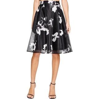 Lucy Paris Womens A-Line Skirt Lined Hidden Back Zipper