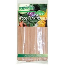 Luster Leaf 812 6 in. Wood Plant Labels, 24 Pack