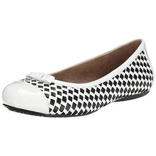 SoftWalk Womens Napperville Basket Weave Round Toe Flats - 12 medium (b,m)