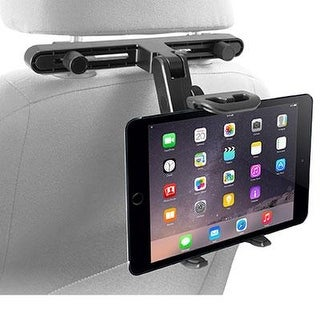 """Macally Adjustable Car Seat Headrest Mount And Holder For Apple Ipad Air / Mini, Samsung Galaxy Tab, And 7"""" To 10"""" Table"""