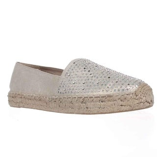 White Mountain Harmonize Espadrille Moccasins, Gold Metallic