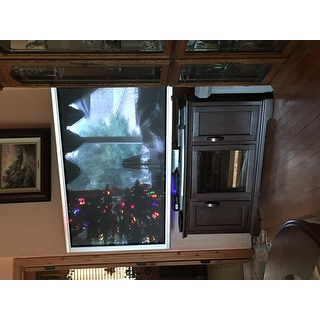 Chocolate bronze 46 inch corner tv stand media console for 100 inch media console