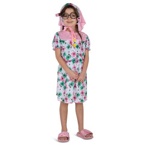 Girls Lil' Granny Halloween Costume